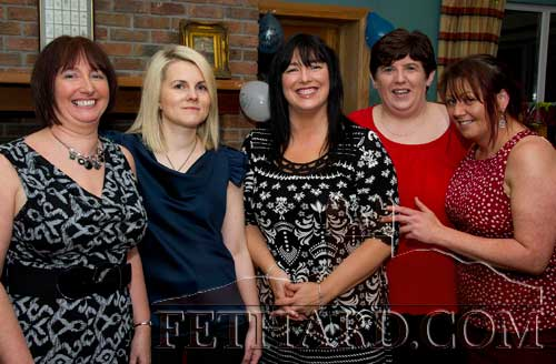 Tina Conran photographed with friends at her surprise 40th Birthday party at Slievenamon Golf Club. L to R: Breda Brophy, Laura Valentine, Tina Conran, Niamh Moroney and Marie Holohan