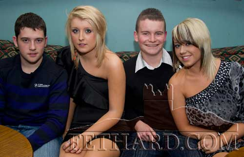 Photographed at Tina Conran's surprise 40th Birthday party at Slievenamon Golf Club. L to R: Conor Vaughan, Jessica Conran, Dylan Rockett and Shannon Hickey