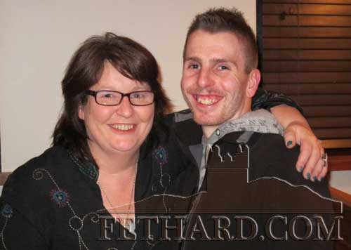 Photographed at the Table Quiz in aid of the Irish Wheelchair Association at Gaule's Bar Fethard are L to R: Joan Carroll and Eoin Maher