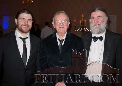 Monthly Award winners photographed at the Tipp FM Art & Entertainment Awards Ball in Dundrum House Hotel L to R: musician Johnny 'B' (O`Brien) winner in the month of September, Thurles native Tom Ryan winner in the month of December, and Joe Kenny winner in the month of August.