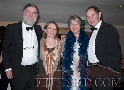 Photographed at the Tipp FM Art & Entertainment Awards Ball in Dundrum House Hotel are L to R: Joe Kenny, Rita Kenny, Janneke Van Dommelen and Bert Van Dommelen.