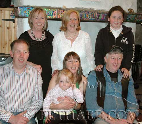 Eleanor O'Riordan, originally from Kerry Street, is photographed above with Scotish and Fethard friends, who all came to Fethard to celebrate her birthday last weekend.