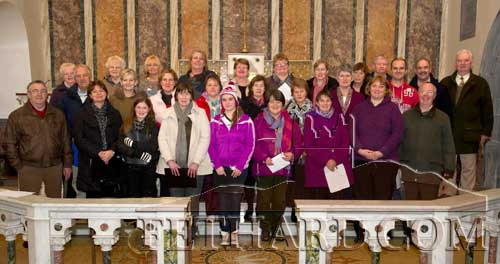 Members of Fethard's new  Choral Society photographed at rehersal for their first public performance in the Augustinian Abbey, December 16, at 7pm.