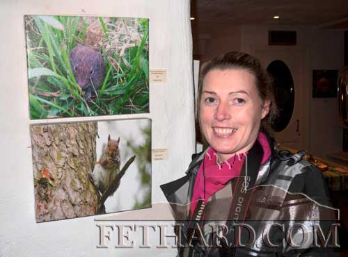 Clodagh Blake photographed with two of her six photographs chosen for the permanent exhibition of Local Biodiversity photographs in association with Cashel Tidy Towns. The exhibition is on display duing Cashel Arts Festival from November 9 to 18, at Cantwell's, Main Street, Cashel.