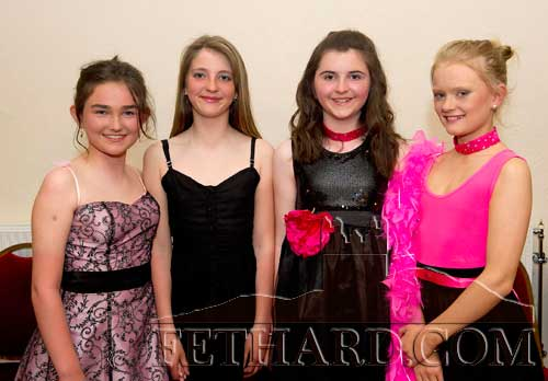 Taking part in Holy Trinity National School's 'Strictly Come Dancing' at Fethard Ballroom were L to R: Carly Tobin, Courtney Walsh, Amy Cowlard and Sally Butler.