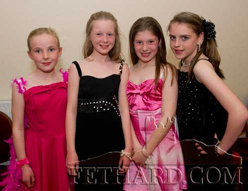 Taking part in Holy Trinity National School's 'Strictly Come Dancing' at Fethard Ballroom were L to R: Emma Jayne Burke, Laura Kiely, Laura Cummins and Shannon Thompson.