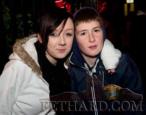Photographed at Fethard Festive Day are L to R: Michaela Doyle and Adam Dorney