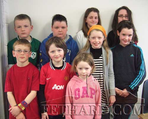 Some competitors from Fethard and Killusty Area who participated in the County finals of the Community Games Art competition Back L to R: Matthew Burke, Gavin Mullally, Abigeal Maher, Rebecca Jones. Front Row L to R: Miceal Quinlan, Michael James Phelan winner of a gold medal U8, Anna Collier, Jennifer Phelan and Katie O'Flynn.