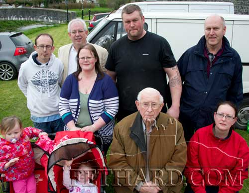 Brian O'Meara with family members at the Irelands Strongest Man Qualifier at Fethard Town Wall
