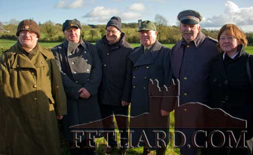 Photographed at the George Plant 70th Anniversary Commemoration at St. Johnstown are L to R: David Owens, Seamus Walsh, Bob Kehoe, Ray Murphy, Sean McCabe and Bridget Murphy.