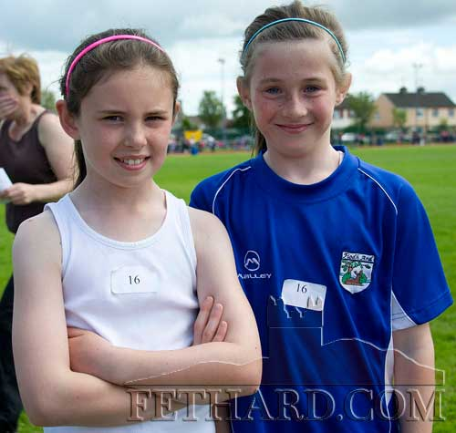 L to R Leah Coen (Killusty) and Lucy Spillane (Fethard)