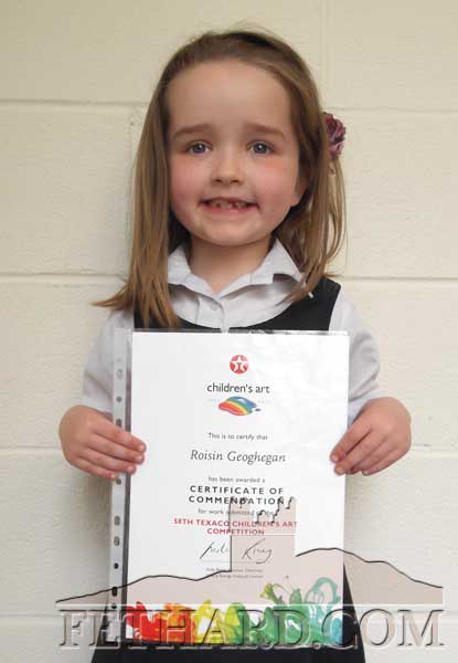 Roisín Geoghegan who received a certificate of commendation fin this year's Texaco Childrens Art Competition