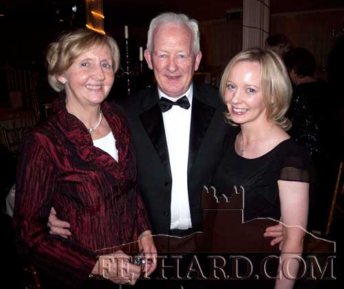 Photographed at the Tipp FM Art & Entertainment Awards Ball in Dundrum House Hotel are L to R: Liz and Seamus Hayes, Kilconnell, Fethard, with their daughter Niamh.