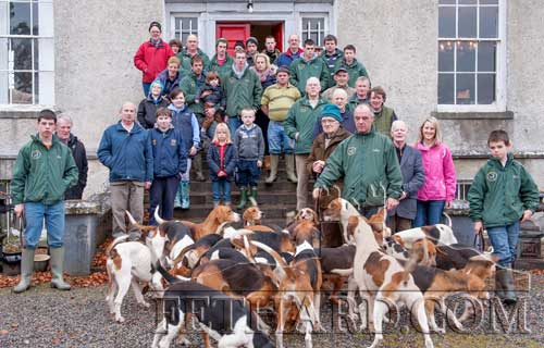 Ballylusky White Heather Harriers  photographed at their lawn meet in Fethard