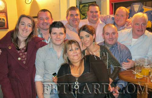 Teddy Morrissey, photographed with his father David and members of his extended family on the occasion of his 40th birthday celebrated in Butler's Sports Bar, Fethard.