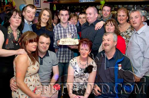 Francis Lonergan photographed with family and friends on the occasion of his 50th birthday celebrated last weekend in Butler's Sports Bar, Fethard.
