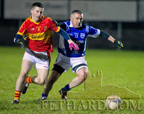 Martin Coen in action for Fethard in the Junior B County Final against Moyrcarkey on Saturday, November 24.