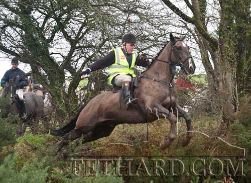Thomas Kearney jumping at the Charity Ride held in Moyglass