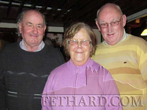 Enjoying a chat about times past last weekend in Fethard were L to R: Tom Purcell, Biddy Kearney and Tommy Bulfin.
