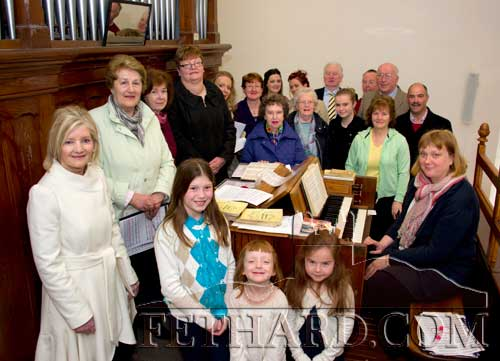 Augustinian Abbey Choir photographed with organist, Ann Barry, at Mass on Easter Sunday morning.