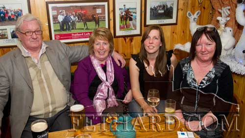 Photographed at Butler's Bar over the Christmas period were L to R: Chris Mackey, Mary Caroll, Elaine Butler and Ann Butler.