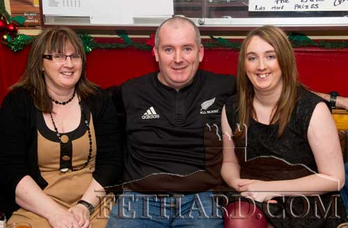 Enjoying a drink in Butler's Bar over Christmas were L to R: Geraldine Lonergan, Francis Lonergan and Nicola Lonergan