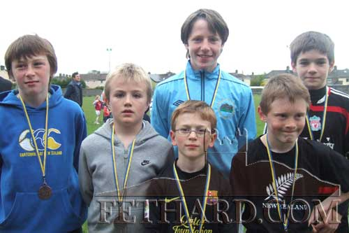 Medal winners in the U10 and U14 boys events at community games athletics L to R: Jack Spillane, Ryan Walsh, Miceal Quinlan, Jack Dolan, Cathal Ryan and Mark Heffernan.