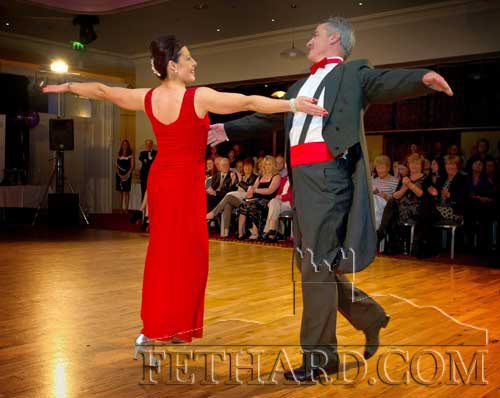 John Ryan and Joanne Trehy dance Amercian Smooth to the sounds of Pretty Woman during the Tipperary Strictly Come Dancing show at the Minella Hotel on Thursday, October 5.