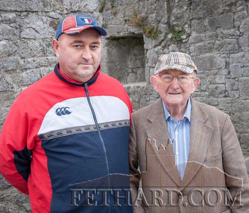 Dinny Flynn (right), originally from The Green, Fethard, is photographed on a recent visit back to Fethard with his nephew, Clint Flynn.