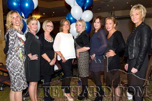 Members of the Fethard & District Rugby Club committee who organised the very successful Celia Holman-Lee Fashion Show at the Clonmel Park Hotel on Thursday, October 4. Pictured L to R: are Polly Murphy, Theresa Kavanagh, Mary Lynch, Ronnie Meagher, Cornelia Ryan, Deirdre O'Dwyer, Margaret Mowlam Ryan and Maresa McCormack.