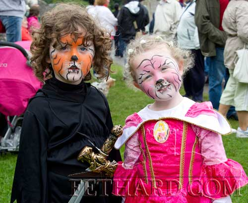 Jake and Ruby Murphy taking part in the Medieval Festival Parade