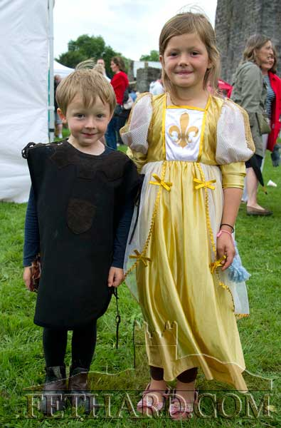 Jack and Jessica Stokes at the Medieval Parade