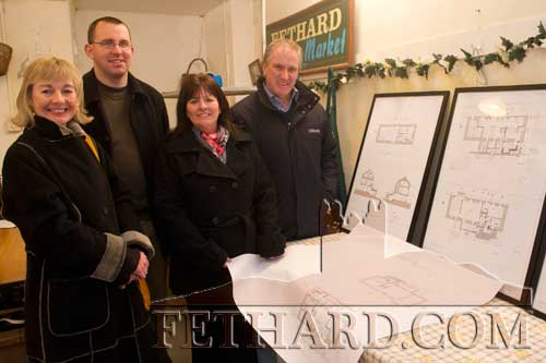 Photographed at Fethard Business and Tourism Group's open day to view proposed Town Hall development plans last weekend L to R: Catherine Corcoran, Conor Ryan, Bernadette Stocksborough and Maurice Moloney.