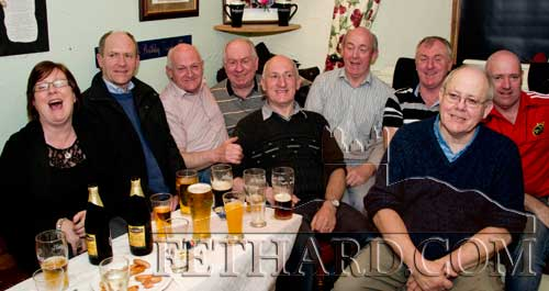 Frank Fogarty photographed with his brothers and sister on the occasion of his 60th birthday celebrated at The Castle Inn, Fethard, last weekend. L to R: Anna, Kevin, Gerry, Pat, Frank, John, Tom, Jim and Martin.