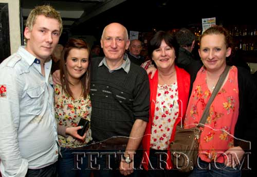 Frank Fogarty photographed with his family on the occasion of his 60th birthday celebrated at The Castle Inn, Fethard, last weekend. L to R: Paul, Kelly, Frank and his wife Una, and Michelle.