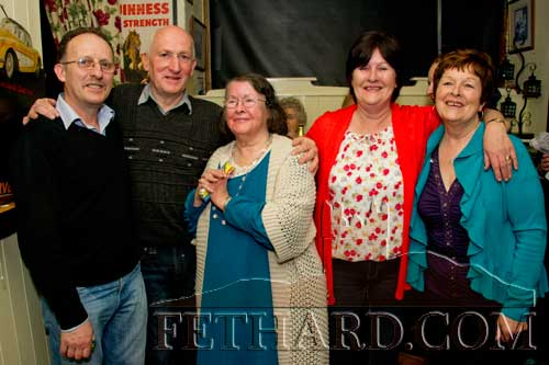 Group photographed at Frank Fogarty's 60th birthday celebrated at The Castle Inn, Fethard, last weekend. L to R: Noel Sharpe, Frank Fogarty, Peg Sharpe, Una (Sharpe) Fogarty and Mary (Sharpe) Sheehan.