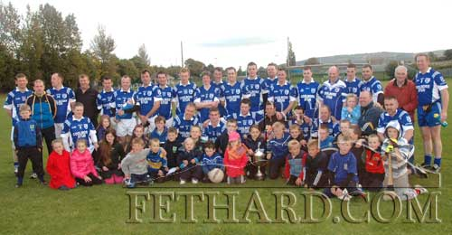 Fethard Junior B Football team and supporters celebrating their win over Cahir in the South Final played at Ned Hall Park last weekend