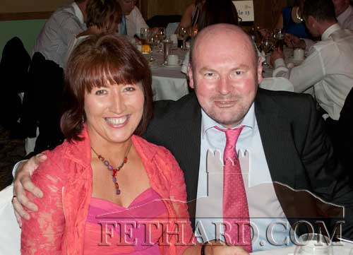 Photographed at the Fethard GAA 125th Anniversary Dinner Dance are Joe Keane, formerly from The Green, and his wife Margaret