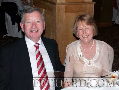 Photographed at the Fethard GAA 125th Anniversary Dinner Dance are Davy and Harriet Fitzgerald