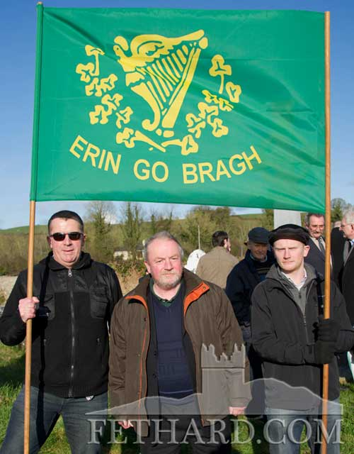 Photographed at the George Plant 70th Anniversary Commemoration at St. Johnstown are L to R: Morgan Hayes, Teddy McCarthy and David McCarthy