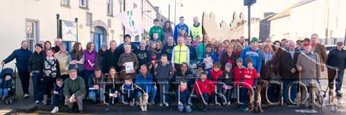 Some of the large crowd who took part in the 'Goal Mile' on Christmas Day in Fethard