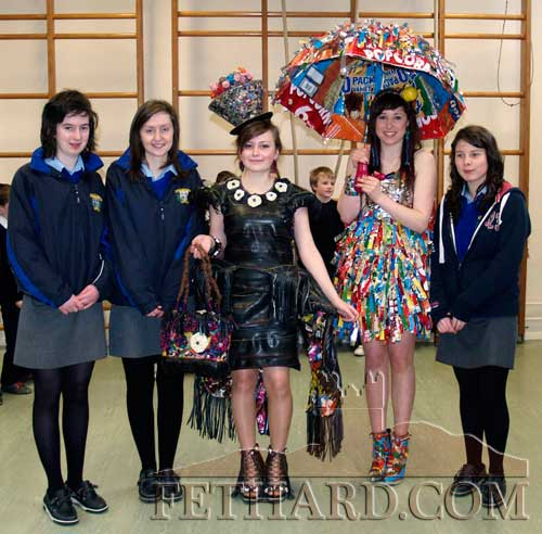 Patrician Presentation TY pupils who have qualified for the Regional Finals of the Junk Kouture Fashion Competition L to R: Michelle Walsh, Karen Hayes, Sveta Novikova, Aobh O'Shea and Danielle Sheehan.