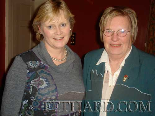 Michelle O'Donoghue and Margaret Carrick photographed at the Fethard Knitting Group's winter party at Raheen House