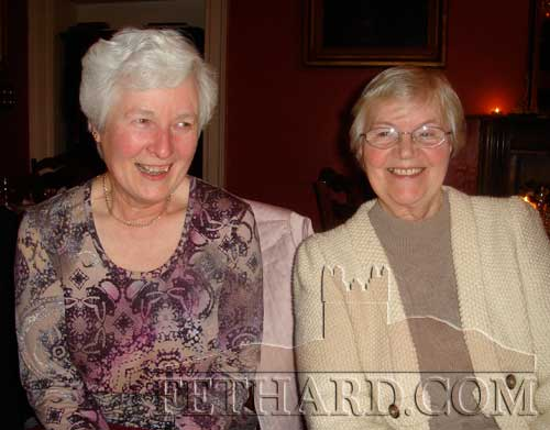Helen McMahon and Sr. Juliana photographed at the Fethard Knitting Group's winter party at Raheen House