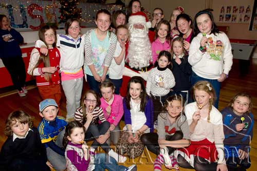 Santa attended the Christmas party for the Ladies Football Club on Friday December 14.