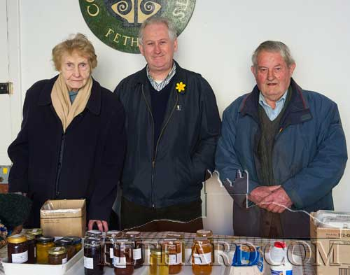 Photographed at the weekly Friday morning Country Market in Fethard Town Hall are L to R: Mai Kennedy, David Curran and Christy Williams.