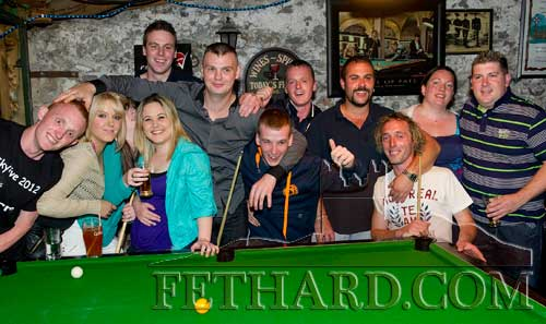 Group at The Castle Inn taking part in a 'Pool Competition' for the Skydive fundraiser held in the Castle Inn  in Aid of Tipperary Branch of Irish Wheelchair Association