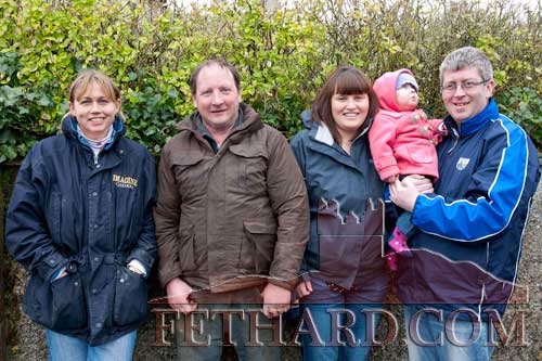 Photographed at the Premier Hunt Meet in Fethard Sunday February 5 are L to R: Maria O'Connor, Willie Doyle, Michelle Doyle, Niamh Ryan and Dermot Ryan