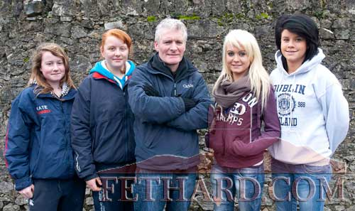 Photographed at the Premier Hunt Meet in Fethard Sunday February 5 are L to R:  Katie Fanning, Lillian Kelly, Paul Gleeson, Chloe Gleeson and Caroline Corbett
