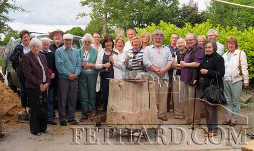 Members of Fethard Historical Society photographed on their outing to Philip Quinns Stone Mad Workshops, Holycross